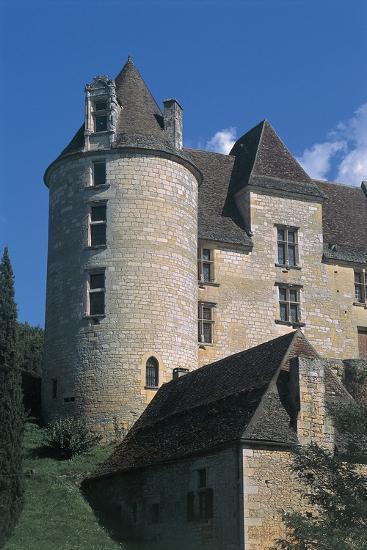 Low Angle View of a Castle, Panassou Castle, Aquitaine, France--Photographic Print