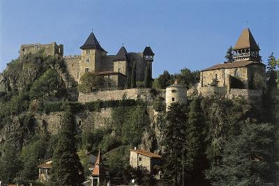 Low Angle View of a Castle, Saint-Paul-En-Cornillon, Rhone-Alpes, France--Photographic Print