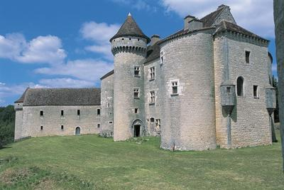 Low Angle View of a Castle, Vaillac Castle, Aquitaine, France--Photographic Print
