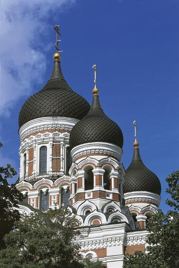 Low Angle View of a Cathedral, Alexander Nevsky Cathedral, Tallinn, Estonia--Giclee Print
