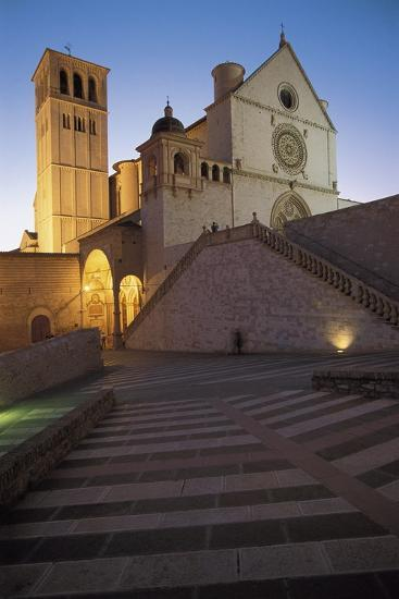 Low Angle View of a Church, Basilica of San Francisco, Assisi, Umbria, Italy--Photographic Print