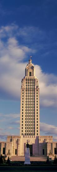 Low Angle View of a Government Building, Louisiana State Capitol Building, Baton Rouge--Photographic Print
