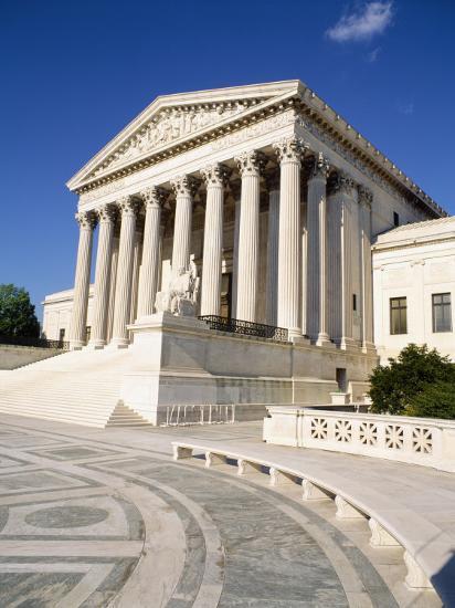 Low Angle View of a Government Building, Us Supreme Court Building, Washington DC, USA--Photographic Print