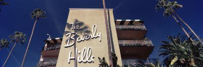 Low Angle View of a Hotel, Beverly Hills Hotel, Beverly Hills, Los Angeles County, California, USA--Photographic Print