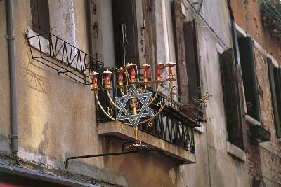 Low Angle View of a Jewish Symbol in a Ghetto, Venice, Veneto, Italy--Giclee Print