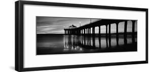 Low Angle View of a Pier, Manhattan Beach Pier, Manhattan Beach, Los Angeles County, California