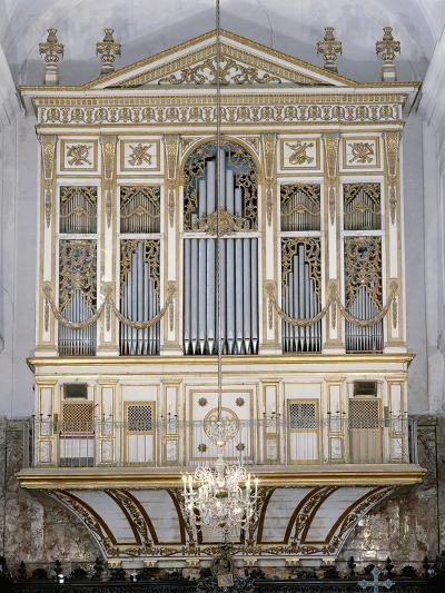 Low Angle View of a Pipe Organ in a Church, San Martino Abbey, Sicily, Italy--Giclee Print