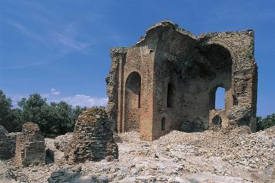 Low Angle View of a Ruined Building, Roccelletta Di Borgia, Calabria, Italy--Photographic Print