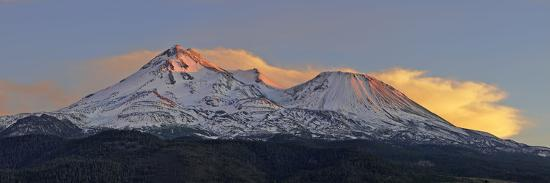 Low Angle View of a Snow Covered Mountain, Mt Shasta, Siskiyou County, California, USA--Photographic Print