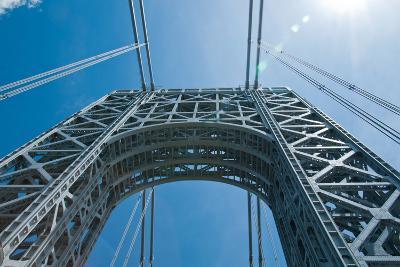 Low Angle View of a Suspension Bridge, Ben Franklin Bridge, River Delaware, Philadelphia--Photographic Print