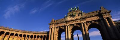 Low Angle View of a Triumphal Arch, Palais Du Cinquantenaire, Brussels, Belgium--Photographic Print