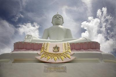 Low Angle View of Buddha and Temple; Phra Buddhasurintaramongkol, Isan, Thailand-Design Pics Inc-Photographic Print