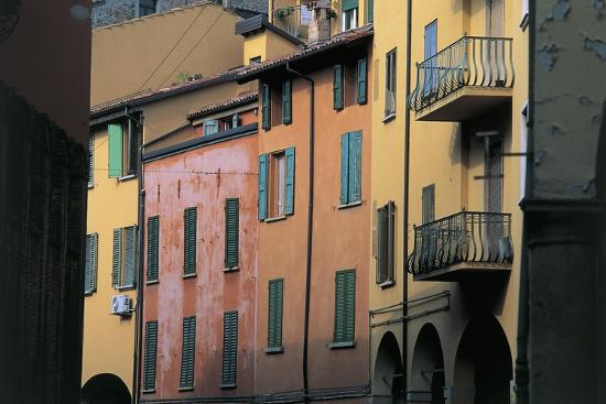 Low Angle View of Buildings in a City, Bologna, Emilia-Romagna, Italy--Photographic Print