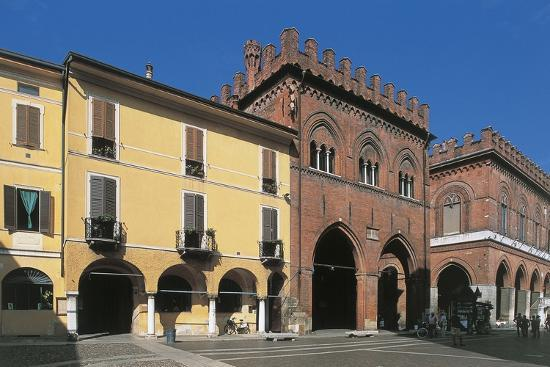 Low Angle View of Buildings, Town Hall Square, Cremona, Lombardy, Italy--Giclee Print