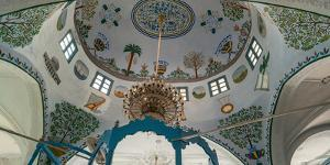 Low angle view of ceiling of Abuhav Synagogue, Safed (Zfat), Galilee, Israel