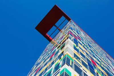 Low Angle View of Colorium Building, Medienhafen, Dusseldorf, North Rhine Westphalia, Germany--Photographic Print