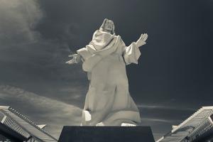 Low angle view of Jesus Christ statue, Calama, El Loa Province, Antofagasta Region, Chile