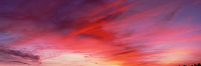 Low angle view of majestic clouds in sky, Santa Barbara, California, USA--Photographic Print