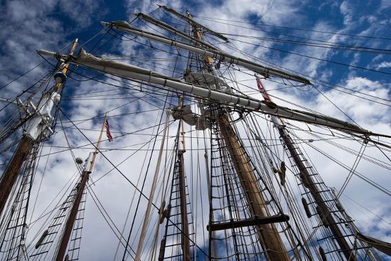 Low Angle View of Mast of Sailboat, Dana Point Harbor, Dana Point, Orange County, California, USA--Photographic Print