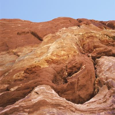 Low angle view of rock formations, Utah, USA--Photographic Print