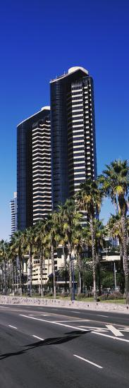 Low angle view of skyscrapers in a city, San Diego, California, USA--Photographic Print