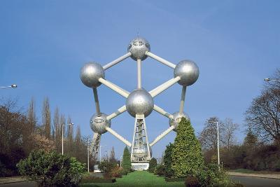 Low Angle View of the Atomium, Brussels, Belgium--Giclee Print