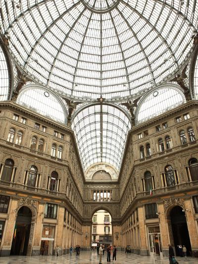 Low Angle View of the Interior of the Galleria Umberto I, Naples, Campania, Italy, Europe-Vincenzo Lombardo-Photographic Print