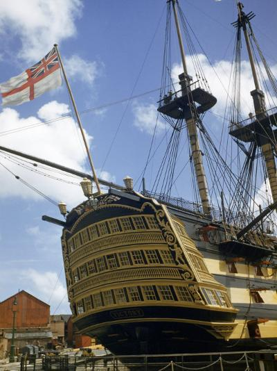 Low Angle View of the Stern of HMS Victory-B^ Anthony Stewart-Photographic Print