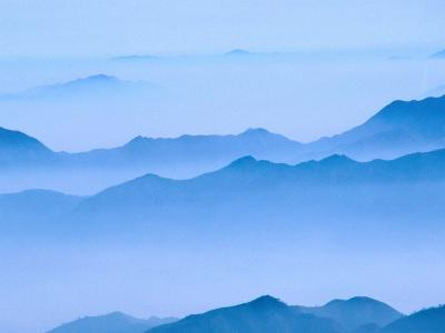 Low Cloud Over Mt. Huang Shan, Anhui, China-Keren Su-Photographic Print