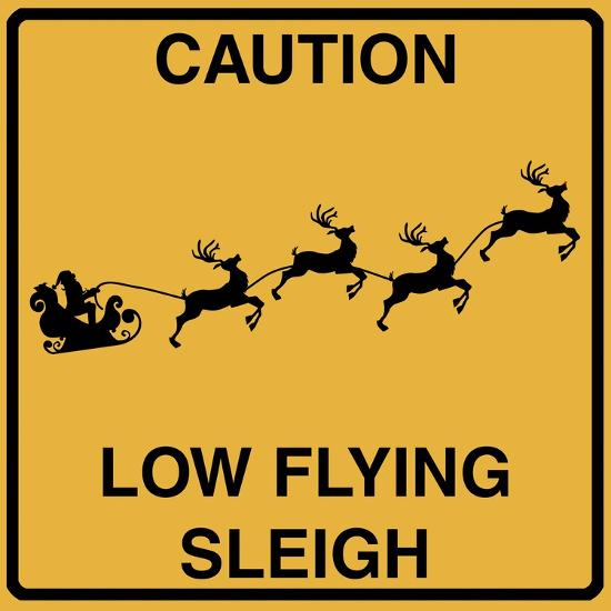 Low Flying Sleigh-Tina Lavoie-Giclee Print