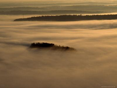 Low Lying Fog Over Merrymeeting Bay at Sunrise-Heather Perry-Photographic Print