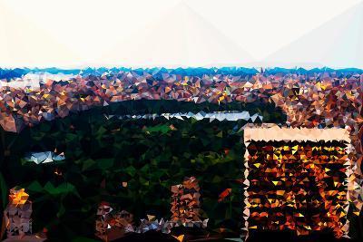 Low Poly New York Art - Central Park at Dusk II-Philippe Hugonnard-Art Print