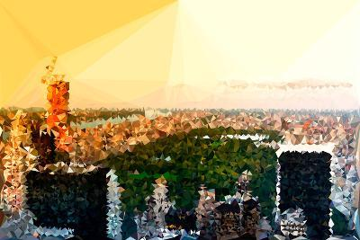 Low Poly New York Art - Central Park at Sunset-Philippe Hugonnard-Art Print