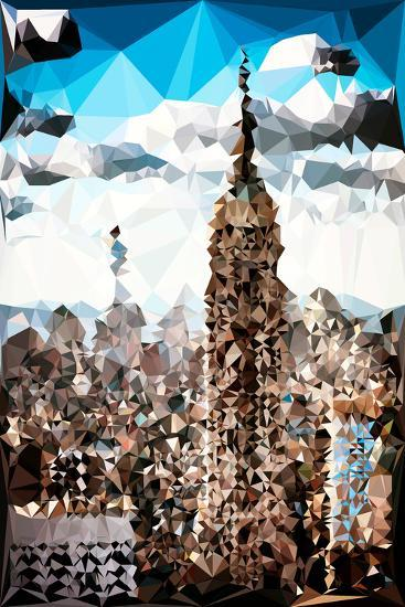 Low Poly New York Art - Empire State Building and 1 WTC-Philippe Hugonnard-Art Print