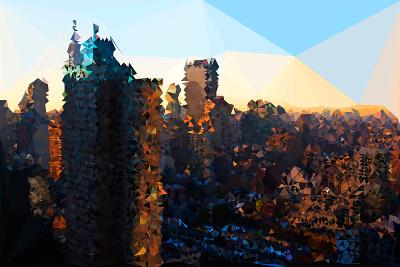 Low Poly New York Art - Manhattan Sunrise-Philippe Hugonnard-Art Print
