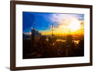 Low Poly New York Art - Sunset View-Philippe Hugonnard-Framed Art Print