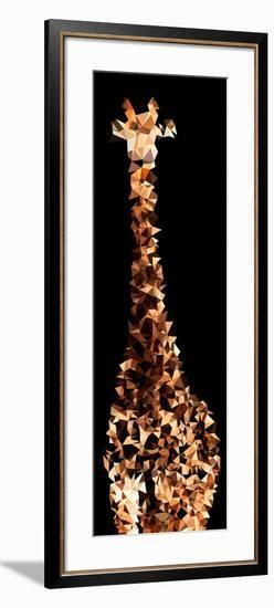 Low Poly Safari Art - Giraffes - Black Edition III-Philippe Hugonnard-Framed Art Print