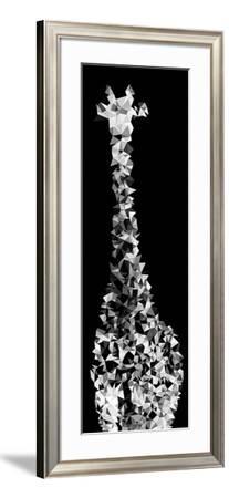 Low Poly Safari Art - Giraffes - Black Edition IV-Philippe Hugonnard-Framed Art Print