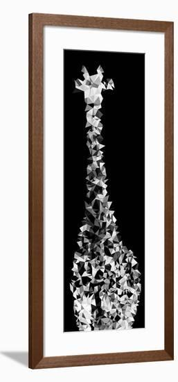 Low Poly Safari Art - Giraffes - Black Edition IV-Philippe Hugonnard-Framed Art Print