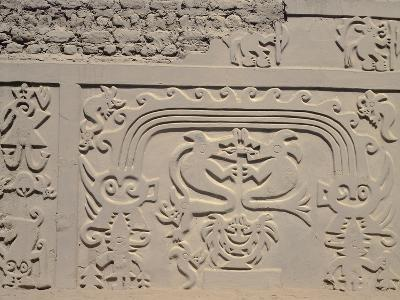 Low Relief Showing Bicefali Snakes and a Frieze with Warriors--Giclee Print