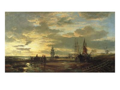 Low Tide, 1858-Samuel Bough-Giclee Print