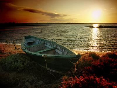 Low Tide and Boat-julioc-Photographic Print