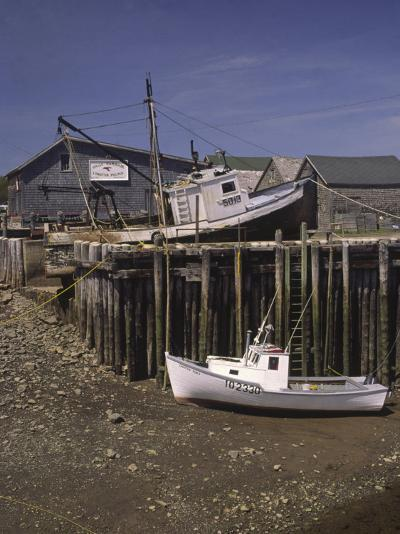 Low Tide at Halls Harbor in the Bay of Fundy-Michael Melford-Photographic Print
