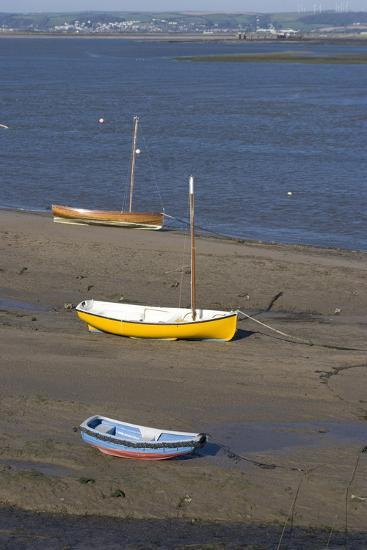 Low Tide at the Town of Appledore Looking Towards Instow, Devon, UK-Natalie Tepper-Photo