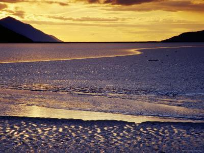 Low Tide at Turnagain Arm, Cook Inlet, Seward Scenic Highway, Seward, Alaska-Richard Cummins-Photographic Print