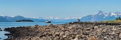 Low tide walk at beach, Southeast Alaska, Alaska, USA--Photographic Print