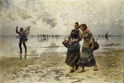 Low Tide-August Wilhelm Nikolaus Hagborg-Giclee Print