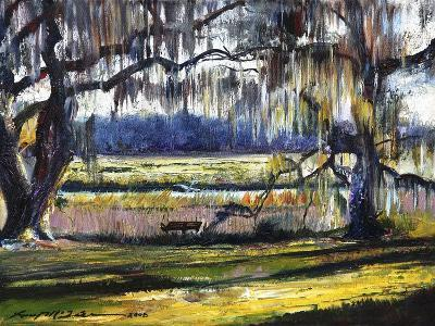 Lowcountry Spanish Moss Escape-Lucy P. McTier-Giclee Print