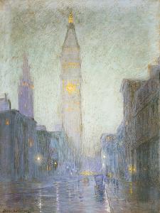Madison Avenue at Twilight, c.1911 by Lowell Birge Harrison