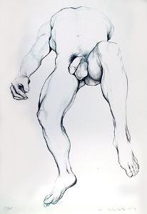 Male Nude 6 by Lowell Blair Nesbitt